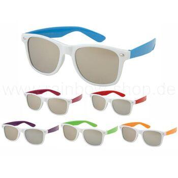 V-1005 VIPER Damen und Herren Sonnenbrille Form: Vintage Retro Farbe: weiß, Bügel variieren