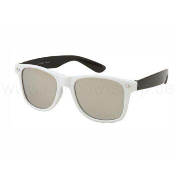 V-1006 VIPER Damen und Herren Sonnenbrille Form: Vintage Retro Farbe: schwarz, weiß