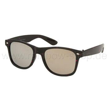 V-1007 VIPER Damen und Herren Sonnenbrille Form: Vintage Retro Farbe: schwarz mit farbigen Sprenkeln