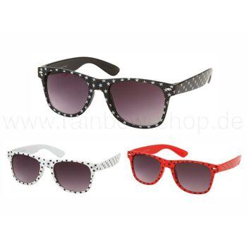 V-1009 VIPER Damen und Herren Sonnenbrille Form: Vintage Retro Farbe: farbig sortiert mit Sternen