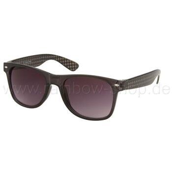 V-1019 VIPER Damen und Herren Sonnenbrille Form: Vintage Retro Farbe: farbig sortiert, Karo Muster auf dem Bügel