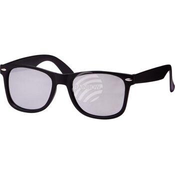 V-1073A VIPER Damen und Herren Sonnenbrille Form: Vintage Retro Farbe: matt-schwarz mit Verzierung