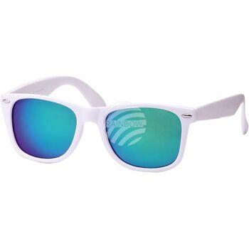 V-1074 VIPER Damen und Herren Sonnenbrille Form: Vintage Retro Farbe: rot oder weiß mit Verzierung