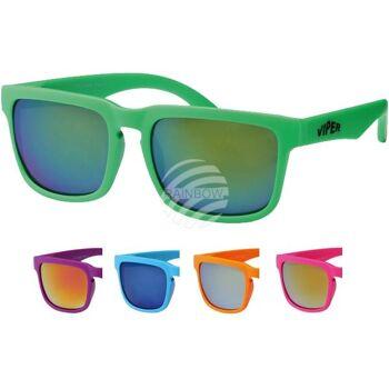 V-1084 VIPER Damen und Herren Sonnenbrille Form: Vintage Retro Farbe: Farbsortierung neon Farben