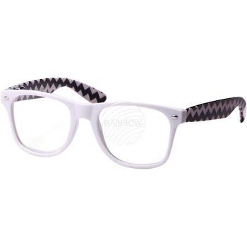 V-1106 VIPER Damen und Herren Sonnenbrille Form: Vintage Retro Farbe: schwarz oder weiß, Zick Zack Muster