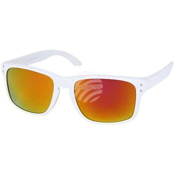 V-1213 VIPER Damen und Herren Sonnenbrille Form: Vintage Retro Farbe: matt weiß, Ziernieten