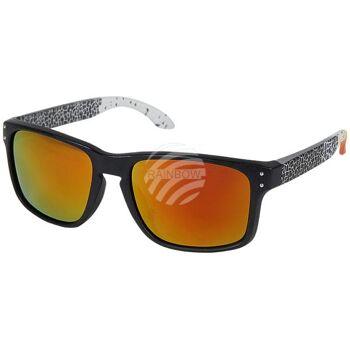 V-1215 VIPER Damen und Herren Sonnenbrille Form: Vintage Retro Farbe: matt schwarz, Mosaik Muster auf Bügel