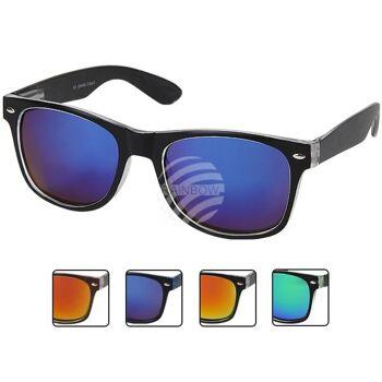 V-1224 VIPER Damen und Herren Sonnenbrille Form: Vintage Retro Farbe: schwarz, transparente Details