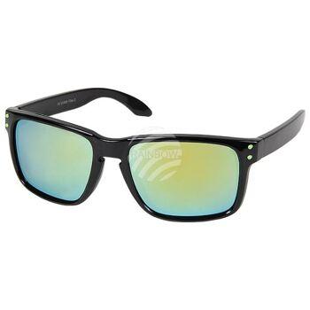 V-1229 VIPER Damen und Herren Sonnenbrille Form: Vintage Retro Farbe: schwarz, farbige Applikationen sortiert