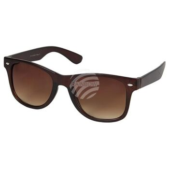 V-1232 VIPER Damen und Herren Sonnenbrille Form: Vintage Retro Farbe: grau, braun oder Gepardmuster transparent sortiert