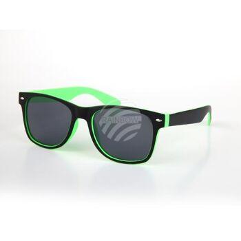 V-1245 VIPER Damen und Herren Sonnenbrille Form: Vintage Retro Farbe: schwarz, Innenseite farbig sortiert