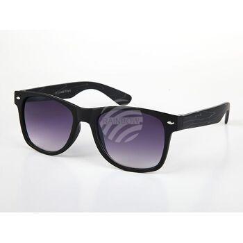 V-1248 VIPER Damen und Herren Sonnenbrille Form: Vintage Retro Farbe: farbig sortiert, Holz Look, schwarze Fassung
