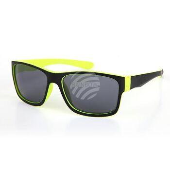 V-1265 VIPER Damen und Herren Sonnenbrille Form: Vintage Retro Farbe: schwarz, gelbe Innenseite