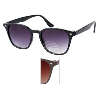 V-1310 Retro Vintage Nerd Blues VIPER Damen und Herren Sonnenbrille Applikation am Rahmen sortiert