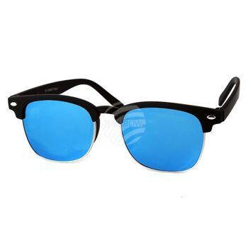 V-1313 VIPER Damen und Herren Sonnenbrille Vintage Retro Applikation am Rahmen