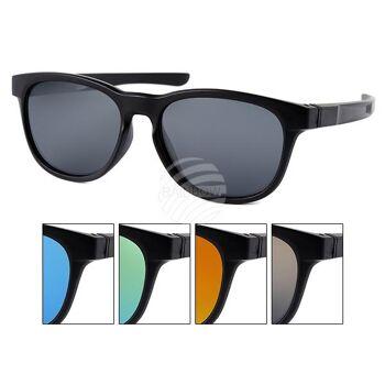 V-1319 Retro Vintage VIPER Damen und Herren Sonnenbrille schwarz