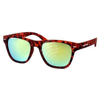 V-1326 VIPER Damen und Herren Sonnenbrille Vintage Retro Rahmen im Flecken Design, Applikation am Rahmen