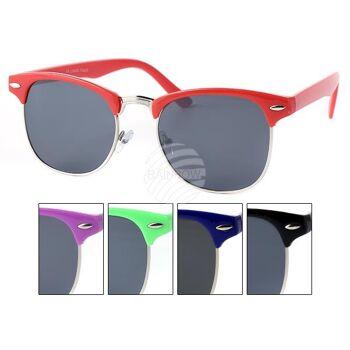 V-1333 VIPER Damen und Herren Sonnenbrille Vintage Retro Applikation am Rahmen