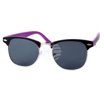 V-1334 VIPER Damen und Herren Sonnenbrille Vintage Retro Applikation am 2-farbigen Rahmen