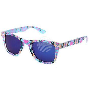 V-1416 Retro Vintage Nerd Blues VIPER Damen und Herren Sonnenbrille Tropical mehrfarbig