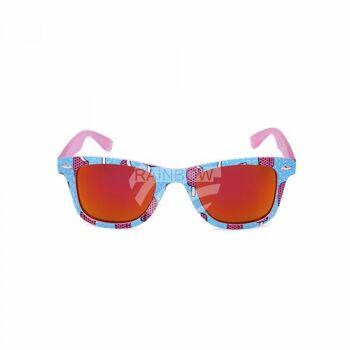 V-1418 Retro Vintage Nerd Blues VIPER Damen und Herren Sonnenbrille Eis am Stiel hellblau rosa