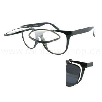 V-411 VIPER Damen und Herren Sonnenbrille Form: Vintage Retro, klappbar Farbe: schwarz