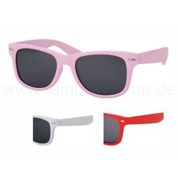 V-816 VIPER Damen und Herren Sonnenbrille Form: Vintage Retro Farbe: weiß, rosa und rot sortiert