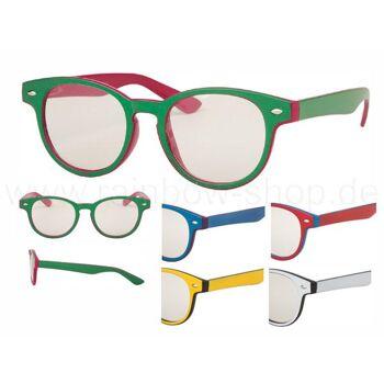 V-988 VIPER Damen und Herren Sonnenbrille Form: Vintage Retro, Nerdbrille Farbe: zweifarbig sortiert