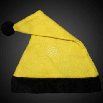 WM-42a Weihnachtsmützen Nikolausmützen gelb mit schwarzem Rand
