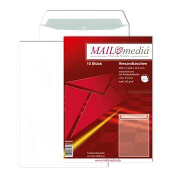12-002507, Versandtasche 10er Pack, C4 229 x 324 Offset weiß 90g, Versandtaschen