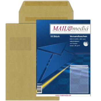 12-002517, Versandtasche 10er Pack, C4 , Versandtaschen