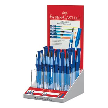 12-181525, POS Display Pinsel gemischt inkl. 12er Faber Castell 181525 - 95067 Pinsel Clic & Go