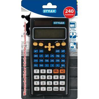 12-38181, STYLEX wissenschaftlicher Taschenrechner 240 Funktionen Wissenschaftlicher-Schulrechner, Tischrechner