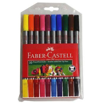 12-151110, Faber Castell Doppelfasermaler 10er Pack