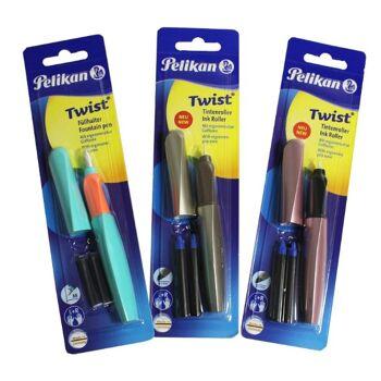12-991914851, REWE Posten Pelikan Twist Füllhalter und Tintenroller