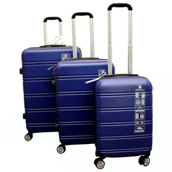 Kofferset 3 tlg. blau