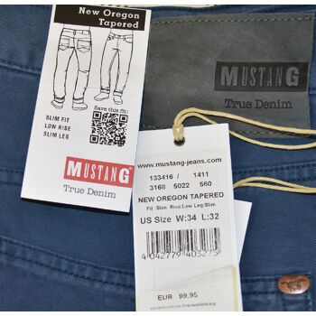 Mustang New Oregon Tapered Slim Fit Herren Jeans Hosen Low Rise Slim Leg 7-1420