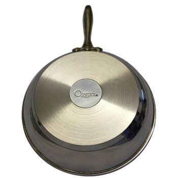 Edelstahl Bratpfanne Earth by Ozeri 26cm mit ETERNA Antihaftbeschichtung ohne PFOA, induktionsgeeignet Pfanne Induktion Küche