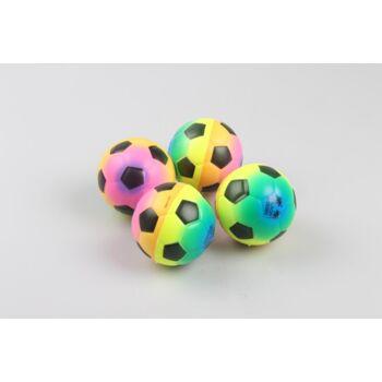 06-6128, Springball, 6,5 cm, Beach Soccer Design aus Schaumgummi, Flummi, Flummiball, Wasserball, Strandball