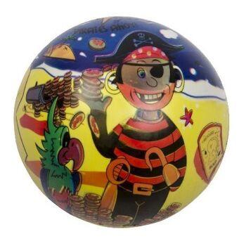 12-48110001, Fussball Pirat 23 cm, Wasserball, Beachball, Strandball