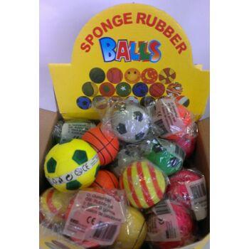 12-69922, Softbälle 6,5 cm, Springball, Knetball, Wasserball, Strandball