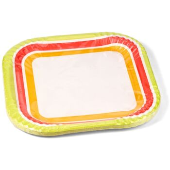 28-171998. DUNI Partyteller 22 x 10 cm, 10er Pack, Kuchenteller, Grillteller, Speisenteller, vielseitig nutzbar