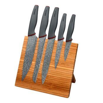 Messer Set 6 teilig mit magnetischem Messerblock