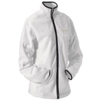 Damen Diadora Fleece Jacke Weiß Fleecejacke Damenmode Zipper