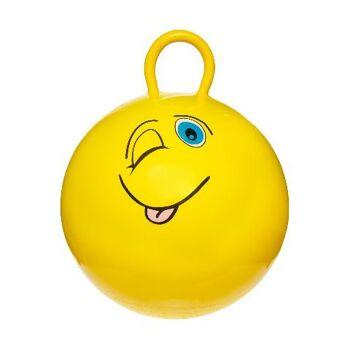 21-4743, Kinderhüpfball 46 cm, mit Gesichtern, Kinder Hüpfball, Springball, HÜPFBALL GESICHT macht nicht nur Spass, trainiert auch gleichzei