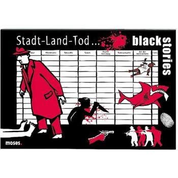 black stories - Stadt Land Tod, 50 Blatt mit Spielanleitung, 1 Block