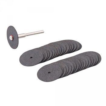 Silverline Trennscheiben für Rotationswerkzeuge, 36-tlg. Satz, Ø 22mm