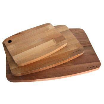 Küchenbrett Schneidebrett 100 % Buche 3er set Top Qualität 100 % Naturholz