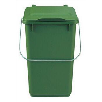 Abfallsammler 10l Ku. braun mit Klappdeckel für Bioabfall