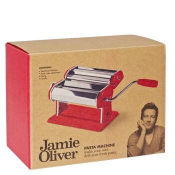 Jamie Oliver  Nudelmaschine aus Edelstahl, rot